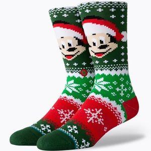 New Stance Mickey Christmas Socks size L & M